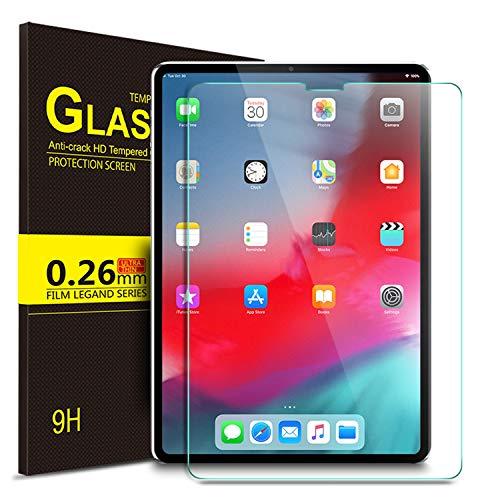 IVSO Panzerglas Schutzfolie Für Apple iPad Pro 12.9 2018 Mit der Gesichts-ID Arbeiten, 9H Härte, 2.5D, Glas Panzerfolie Displayschutzfolie Für Apple iPad Pro 12.9 Zoll 2018 Modell, (1 x)