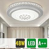 HG® 48W Deckenleuchte Kristall LED Runde Wohnzimmer Flurleuchte Design Pendel Lampe