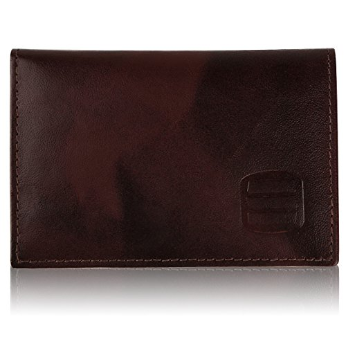Suvelle Mens Thin RFID Blocking Slim Leather Card Holder Minimalist Front Pocket Wallet WR100 ... -
