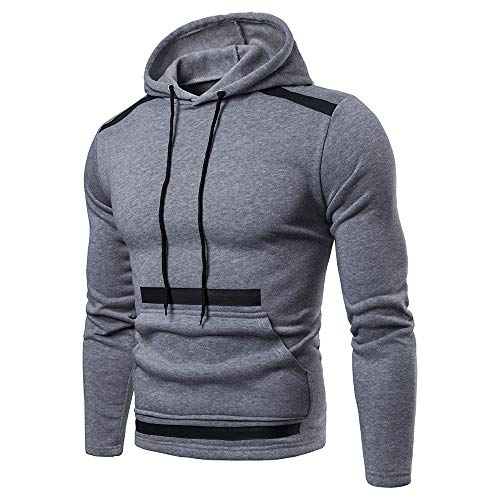Huaya Mode Herren Lange Ärmel Herbst Winter Patchwork Hoodies Trainingsanzüge
