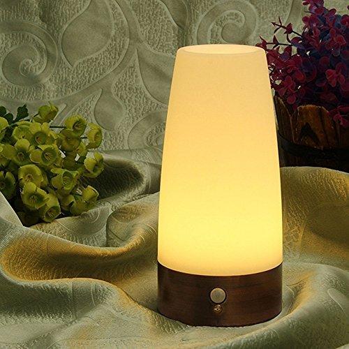 xinji LED Batteriebetrieben Wireless PIR Bewegungsmelder Licht/Indoor oder Outdoor LED Licht/Tischlampe/Nachtlicht mit Schalter Cool weiß (Outdoor-pir-licht)