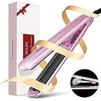 Spaire Planchas para cabello de vapor de cerámica. Temperatura ajustable H/L. plancha