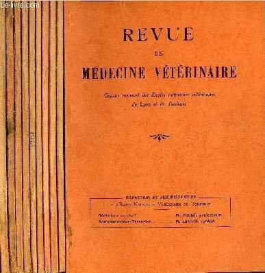REVUE DE MEDECINE VETERINAIRE - 10 NUMEROS 10 VOLUMES - JANVIER + FEVRIER + MARS + AVRIL + MAI + JUILLET + AOUT SEPTEMBRE + OCTOBRE + NOVEMBRE + DECEMBRE 1961. par COLLECTIF