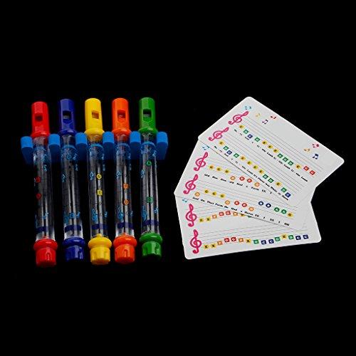 Preisvergleich Produktbild LLLucky 5 Stücke Kinder Wasser Flöten Kinder Bad Musik Song Sheets Musikinstrumente Flöten
