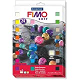 Fimo - 24 bloques de masa para moldear de 25 g en colores variados y que endurece en el horno (Staedtler 8023 02)