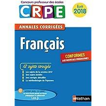 Annales CRPE 2018 : Français