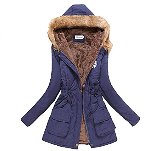 Women's New Long Sleeve Villus Casual Parka Coat hoodie Jacket