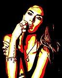 Melissa Satta–Bild moderne handbemalt–Pop Art Effect (Format 40x 50cm)