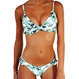JewelryWe Donne Sexy Bikini Due Pezzi Triangolo Push-Up Stampato Imbottito Costume da Bagno Mare