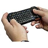 Mini clavier-télécommande Bluetooth universel Cooper Cases(TM) Magic Wand pour ordinateur portable, smartphone/télévision et tablette (Pad tactile intégré, touches rétroéclairées, compatible avec les appareils Android, Windows, iOS et PS3)