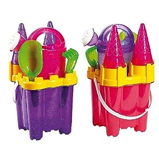 Siva Toys 225167 Siva ''Sandeimerset Castle Glitter 7 Pcs. '', Multi Colour
