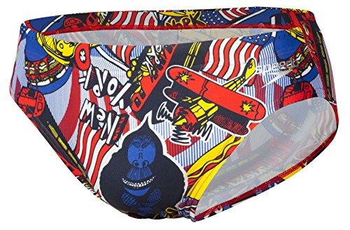 Speedo New York City 7cm sbrf Bin Herren Badehose mehrfarbig - Navy/Rot