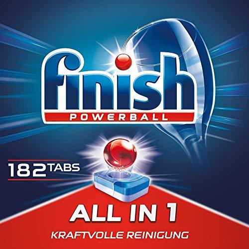 Finish All in 1 Spülmaschinentabs für 3 Monate, Gigapack, 1er Pack (1 x 182 Tabs)