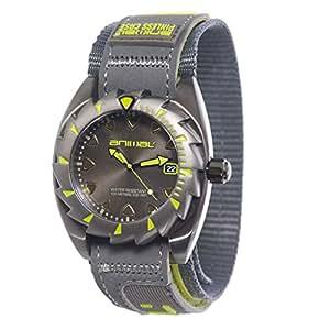 Animal Zepher Men's Quartz Watch with Grey Dial Analogue Display and Grey Fabric Strap WW3WC012 - Z67 - O/S
