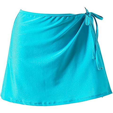 Scuba Ladies Mix & Match Plain Swimming Beach Wrap Skirt Cover Up - Turquoise - Size 16