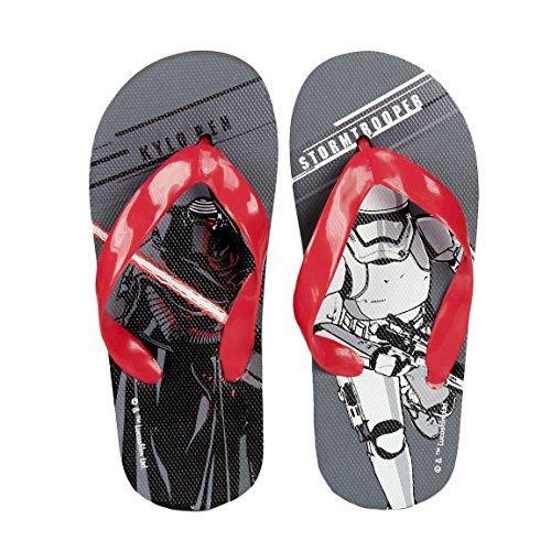 Takestop® Chanclas Star Wars Disney gris rojo Kylo