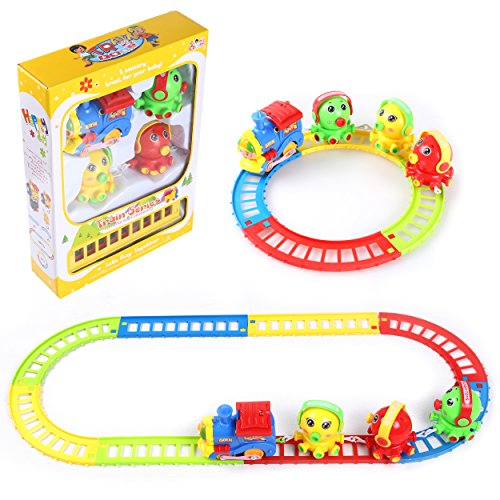 My First Building Train Railroad Track Musical Beginner Preschool Set Animal Friends Educational Toys