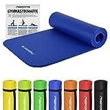 Gymnastikmatte Premium inkl. Übungsposter | Hautfreundliche - Phthalatfreie Fitnessmatte - 190 x 60 x 1,5 cm | Königsblau | Pilatesmatte - sehr weich - extra dick - Yogamatte