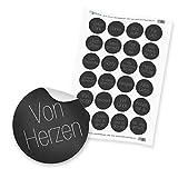 """24 x itenga Sticker """"Sprüche Schlicht Dunkel"""" (Motiv 70)"""