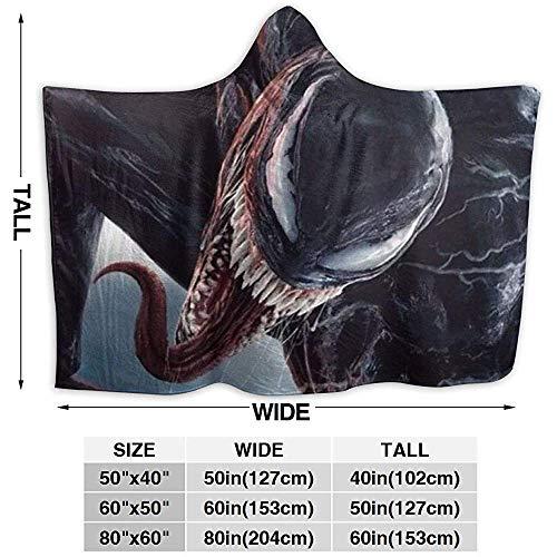 Nat Abra Venom Blanket Hoodie Decke Soft Cloak Schal Wrap Für Erwachsene Kinder