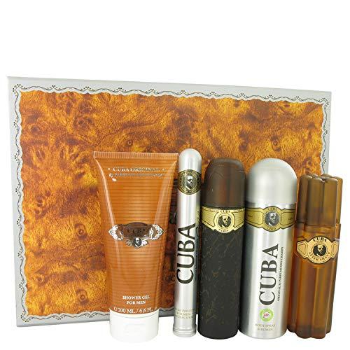 Fragluxe Cuba Gold by Gift Set - 3.3 oz Eau De Toilette Spray + 3.3 oz After Shave Spray + 6.7 oz Body Deodorant Spray + 6.7 oz Shower Gel + 1.17 oz EDT Spray / - (Men)