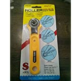 Rajesh Rotary Cutter for Fabric,Paper,Leather and Vinyl (28mm, White)
