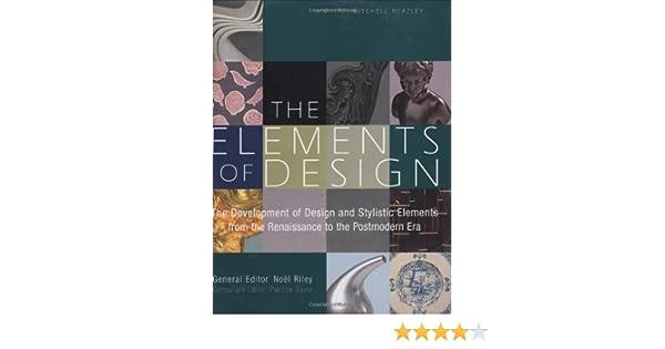 The Elements Of Design Amazonde Noel Riley Patricia Bayer