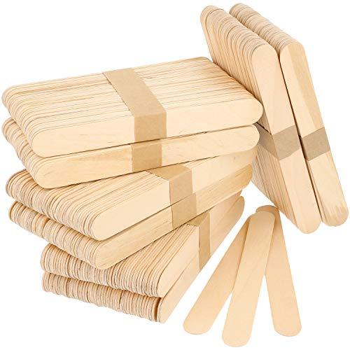 com-four® 400x Holzspatel für die Haarentfernung - zum Auftragen von Wachs und Zuckerpaste (400 Stück - Holzspatel) (Natürliche Holz-spachtel)