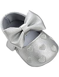 Zapatos plateado para bebé 6KOsp22ut