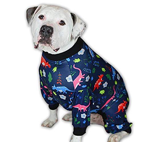 Dog-Pyjama für große Hunde, mit Aufschrift Tooth & Honig, schlanker Sitz, Leichter Pullover, Pyjama für große Hunde, mit vollständiger Abdeckung, Bitte Größentabelle vor der Bestellung versenden, XXL