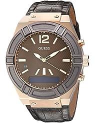 Guess Herren-Armbanduhr Connect Analog - Digital Quarz Leder C0001G2