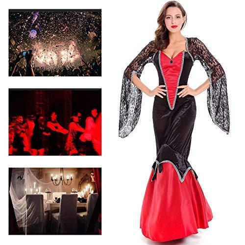 Ball Vampir Kostüm - JH&MM Halloween Kostüm Damen Vampir Ball Königin verkleiden Sich Rollenspiele Maskerade Kostüm