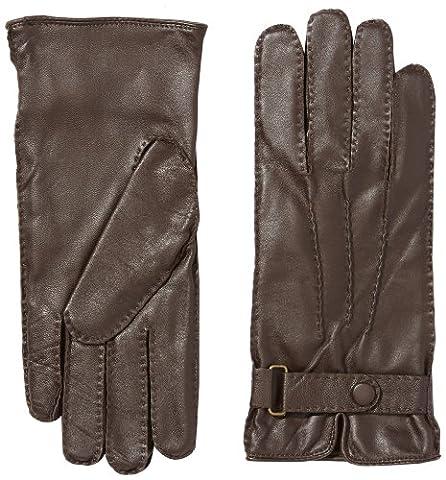 Fraenklis Men's Lambskin Leather Gloves Brown dark brown Size:9