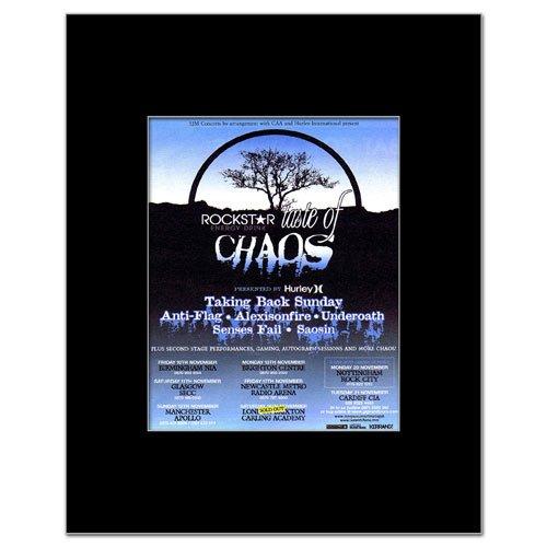 Taking Back Sunday Poster (TAKING BACK SUNDAY - Taste of Chaos 2006 Matted Mini Poster - 14x11cm)