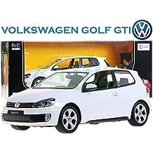 Modelo del coche del vehículo del coche, accionado por control remoto de coches Volkswagen Golf GTI 01:12 incluyendo el control remoto - BLANCO