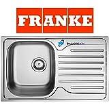 Franke 101.0251.296soie en acier inoxydable évier de cuisine avec bol simple–Gris