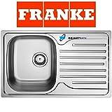 Franke 101.0251.296, Lavello da cucina in acciaio inossidabile con vaschetta singola - Grigio