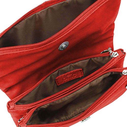 BMC da donna in pelle PU camera scomparto cerniera colore Fashion frizione borsa Rosso (Rossetto rosso) Comprar Moda Barata ftZ6cMK