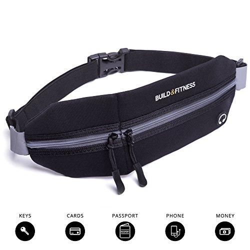 Running Belt, Fitness Belt, Travel Belt, Zipper, Adjustable, Waterproof, Reflective. iPhone 6/7 (slim cases only). Unisex. Gym Workouts, Exercise, Cycling, Walking, Jogging, Sport & Outdoor Activities