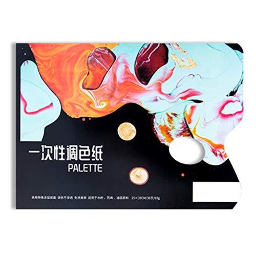 MM456 Abreißpalette, Einweg Palette Papierpalette für Acryl-, Öl-, Aquarell- und Tempera/Gouachemalerei (L-25 x 35 cm) (Malen, Ist-tempera Waschbar)