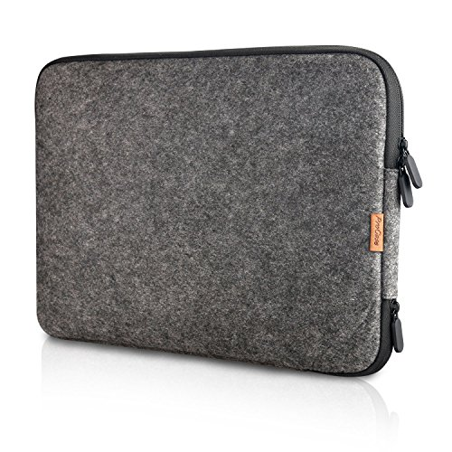 ProCase 13-13.5 Zoll Schutzhülle Filz Laptop Sleeve Tasche, 13 Zoll MacBook Pro Retina/MacBook Air, 13.5 Zoll Surface Book und Andere Chromebook Ultrabook Notebook- Schwarz