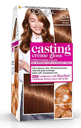 L'Oréal Paris Casting Crème Gloss Coloration Ton Sur Ton Sans Ammoniaque 6.34 Marron Miel Lot de 2
