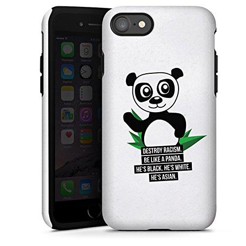 Apple iPhone X Silikon Hülle Case Schutzhülle Sprüche Panda Weiß Tough Case glänzend