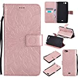 COZY HUT For Wiko Pulp Fab 4G Case [Rose Gold], PU Leather