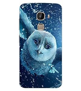 ColourCraft Fantasical Owl Design Back Case Cover for LeEco Le 2