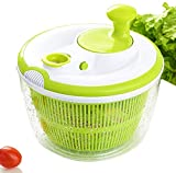 JmeGe Salad Spinner and Vegetables Dryer Quick Dry Design BPA Free Dry Off