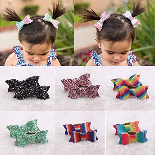 Mitlfuny Karnevals Make-up Fastnacht & Mottopartys,6 Paare Haarschleife Ring Elastisches Haarseil Für Baby Mädchen Kinder Pferdeschwanz ()