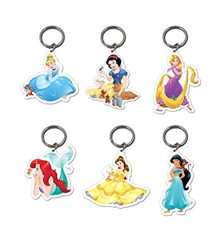 6x oficial Disney Princesas Llaveros Belle Blancanieves