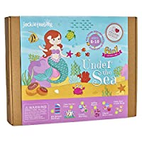 Under the Sea Themed Craft Kit | Includes Beautiful Felt Mermaid Sewing | 6 Different Crafts-in-1 | Best Gift for Girls Ages 6 to 10 years (6-in-1)
