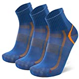 Calcetines Deportivos Quarter Pro 3 Pares (Azul/Naranja, EU 35-38)